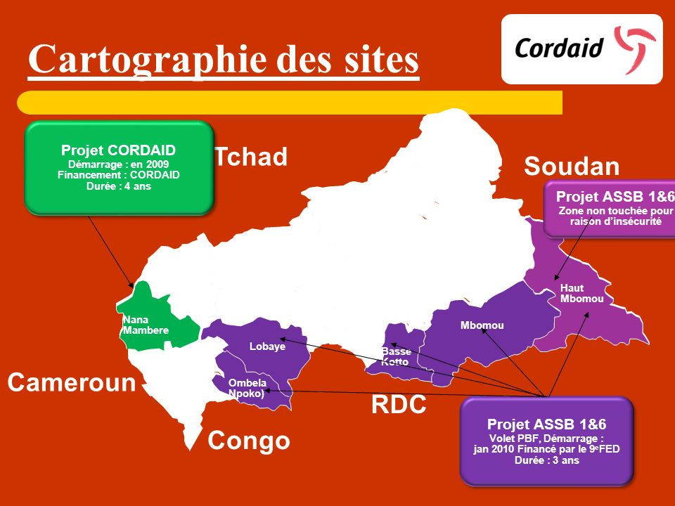 Cartographie des sites