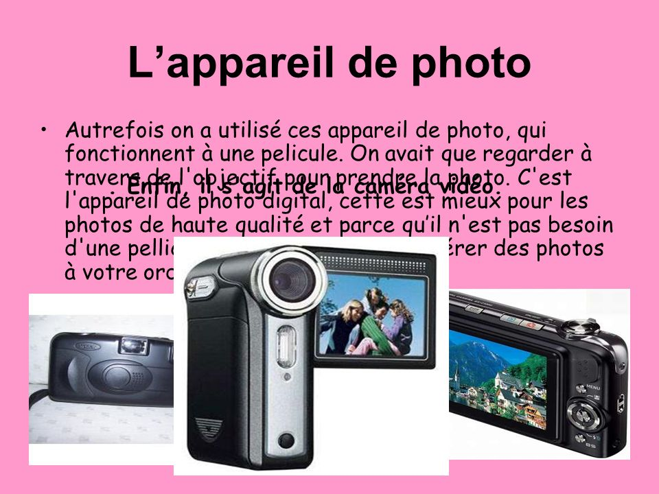 L'appareil de photo