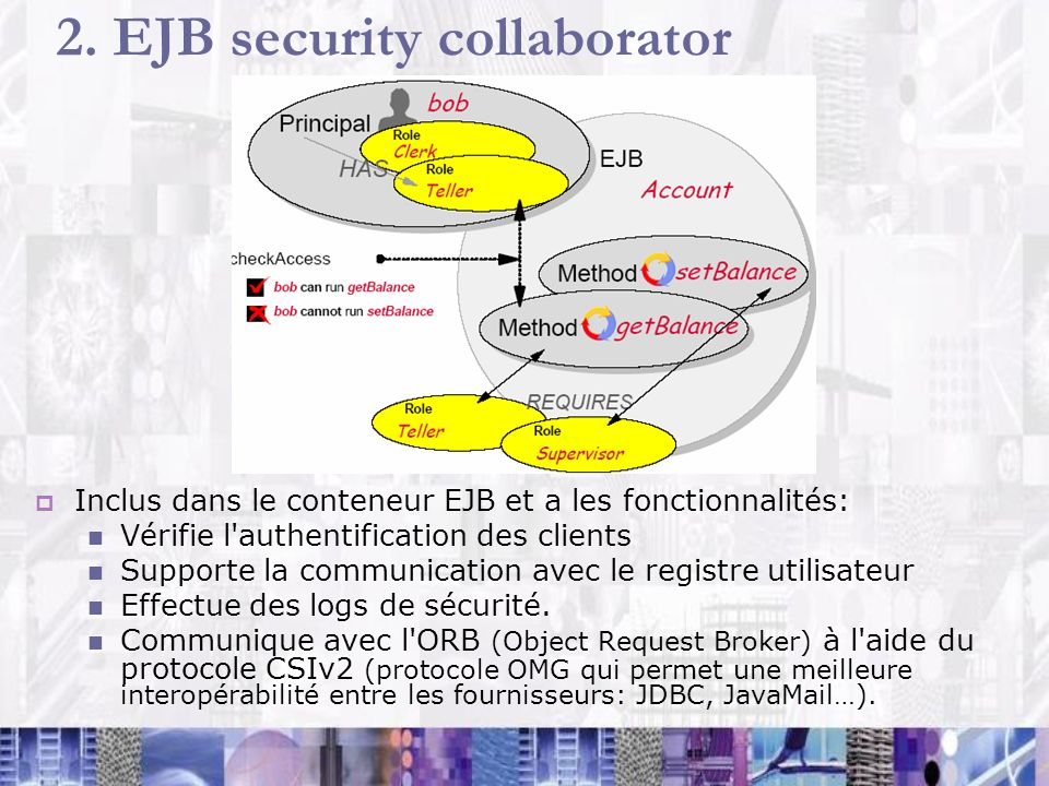 2. EJB security collaborator