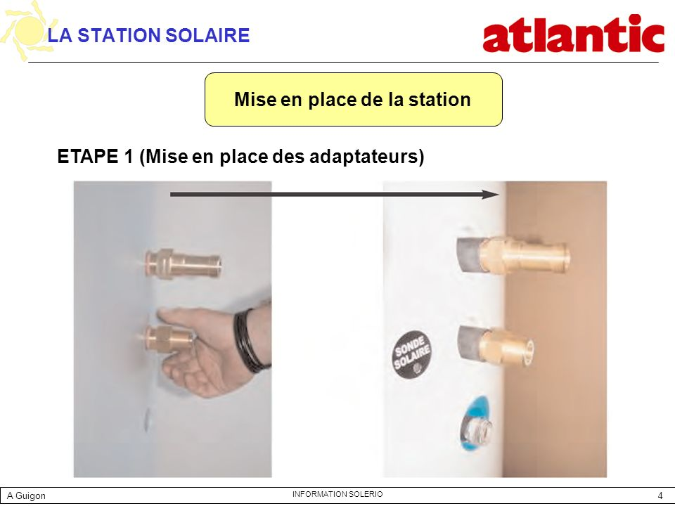 Mise en place de la station