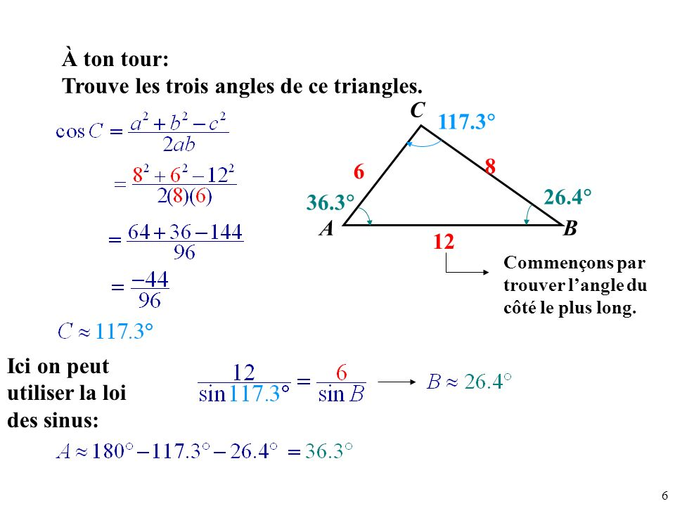 Example: Law of Cosines - SSS