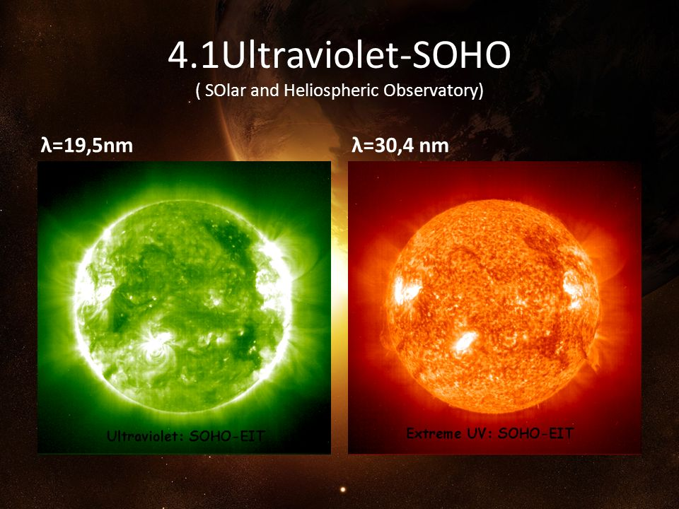 4.1Ultraviolet-SOHO ( SOlar and Heliospheric Observatory)