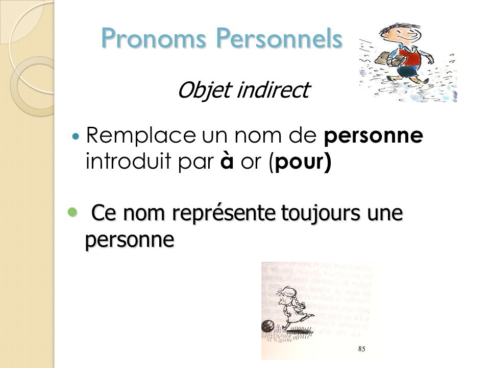 Pronoms Personnels Objet indirect