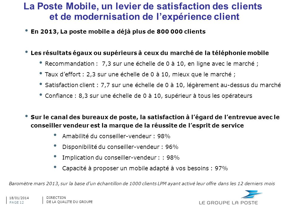 La Poste Mobile, un levier de satisfaction des clients