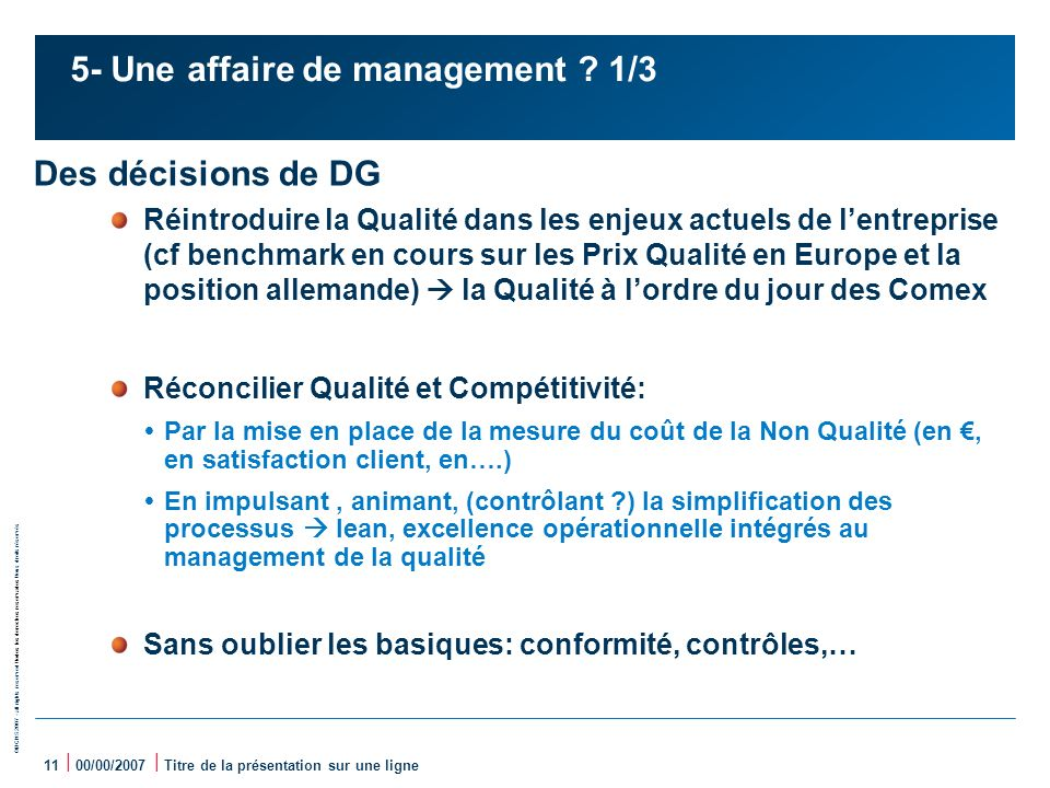 5- Une affaire de management 1/3