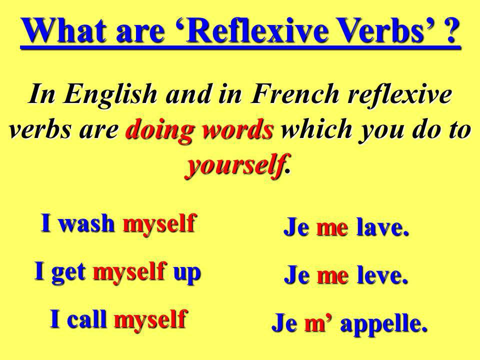 What are 'Reflexive Verbs'