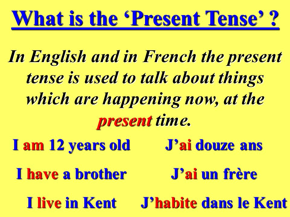 What is the 'Present Tense'