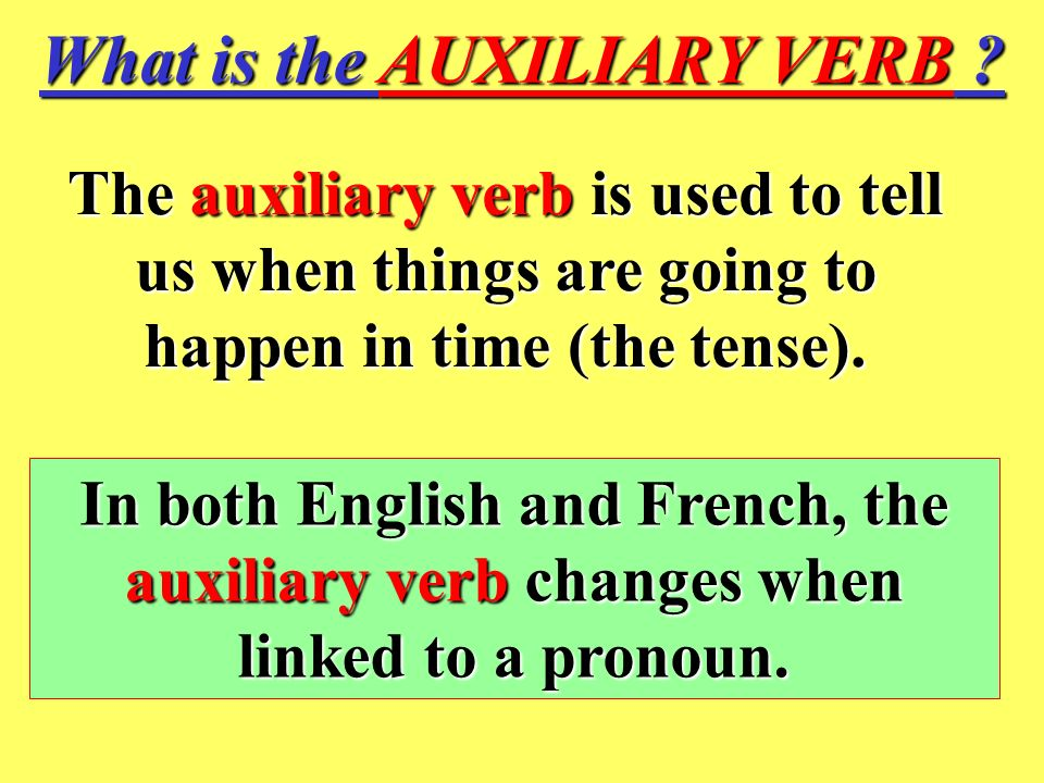 What is the AUXILIARY VERB