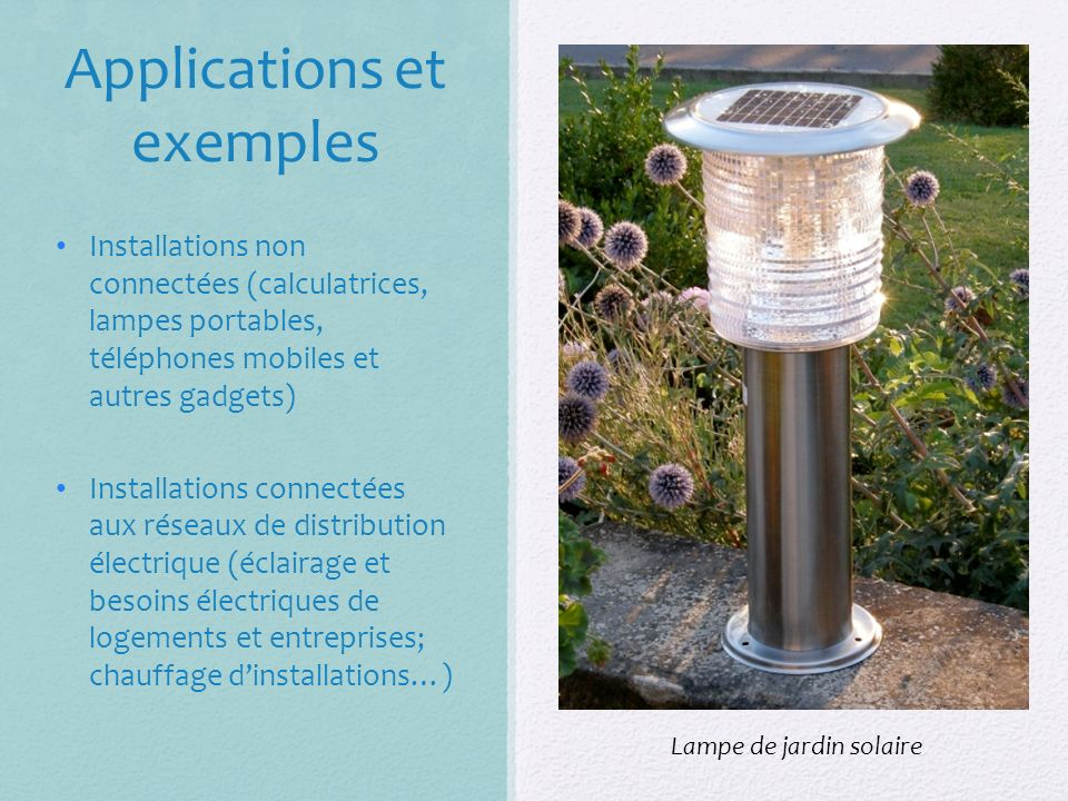Applications et exemples