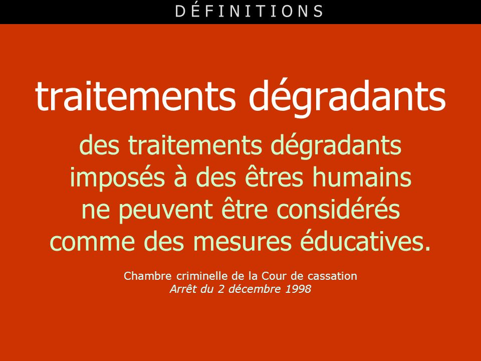traitements dégradants