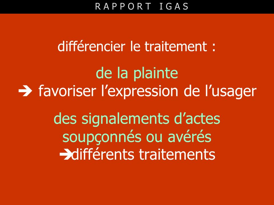  favoriser l'expression de l'usager