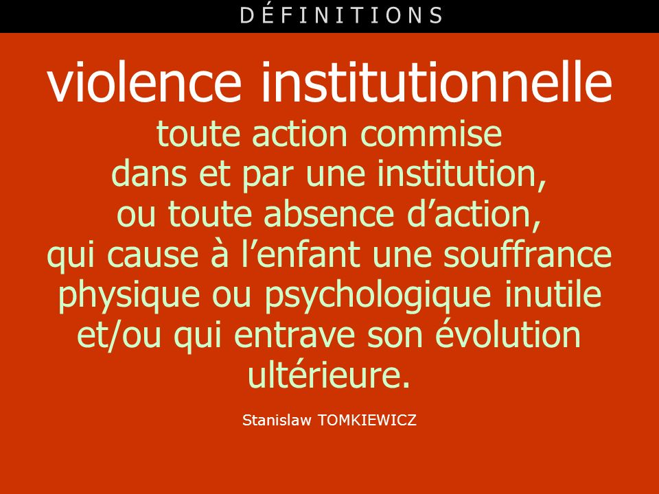 violence institutionnelle