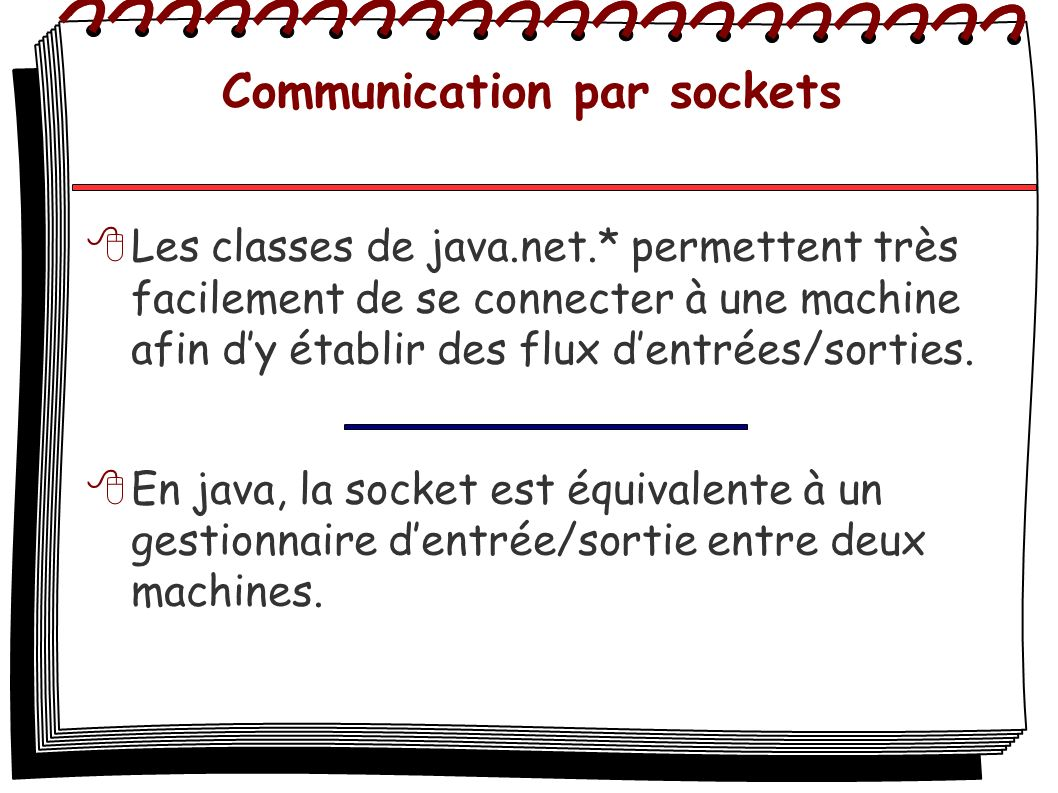 Communication par sockets