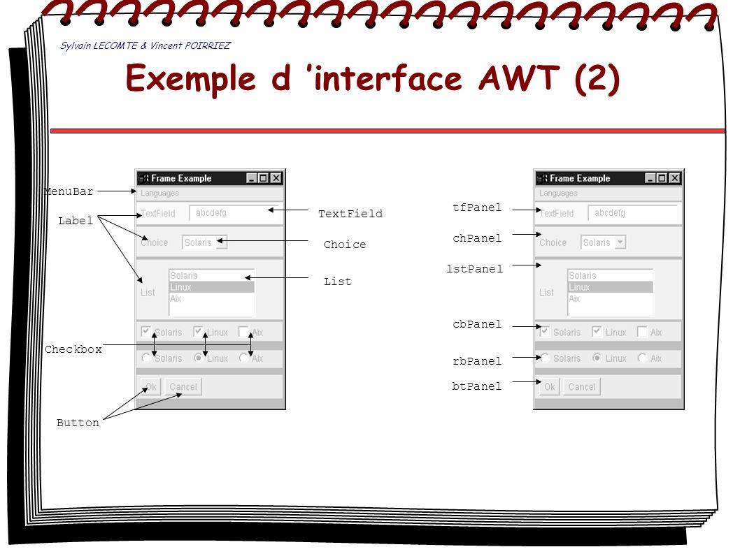 Exemple d 'interface AWT (2)