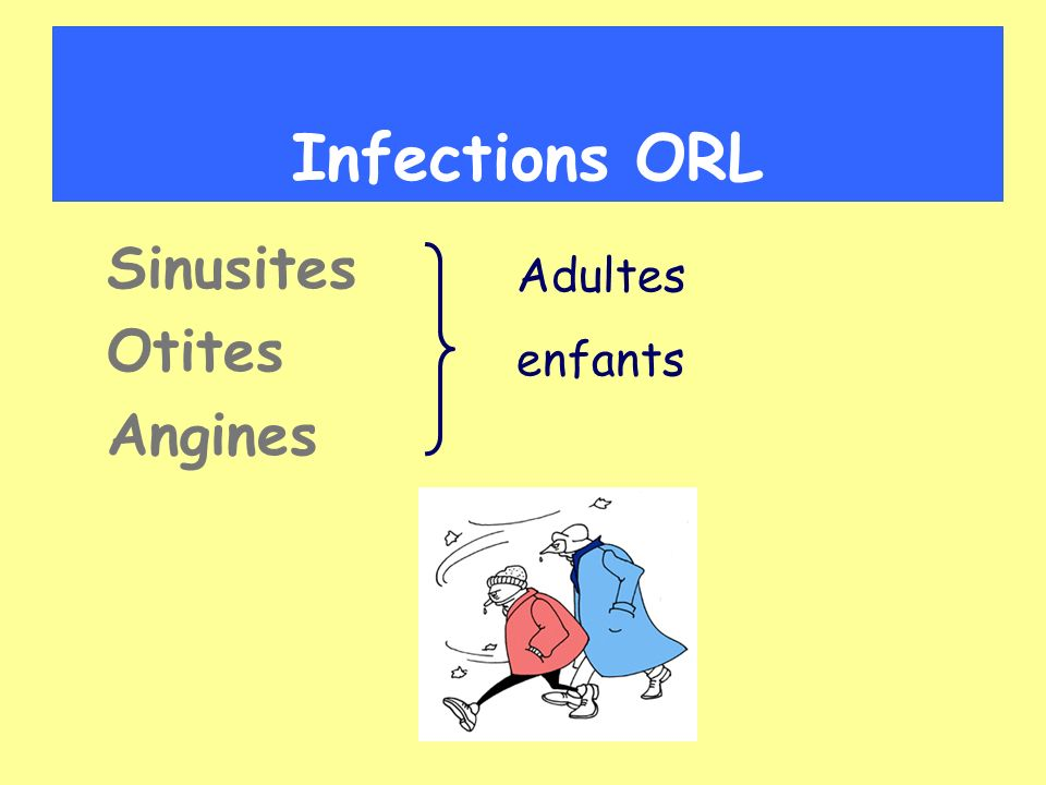 Infections ORL Sinusites Otites Angines Adultes enfants