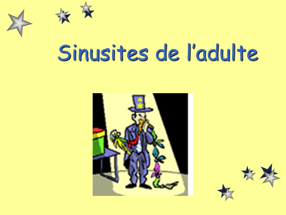 Sinusites de l'adulte
