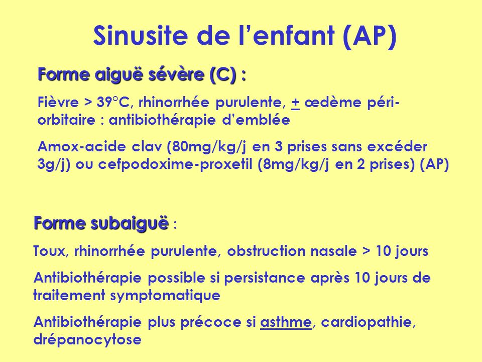 Sinusite de l'enfant (AP)