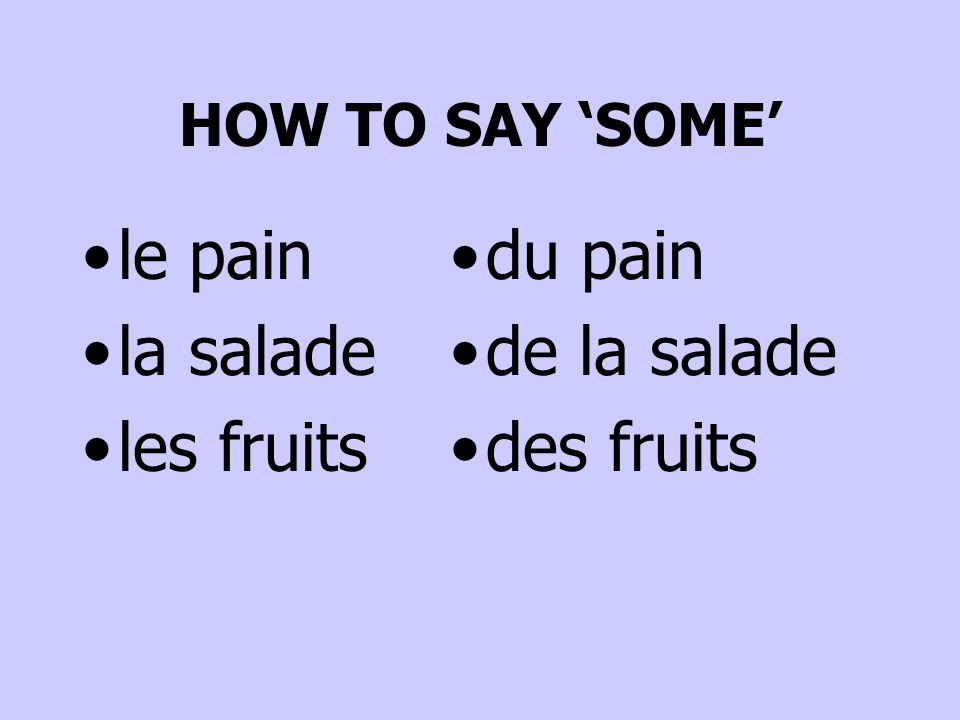 le pain la salade les fruits du pain de la salade des fruits