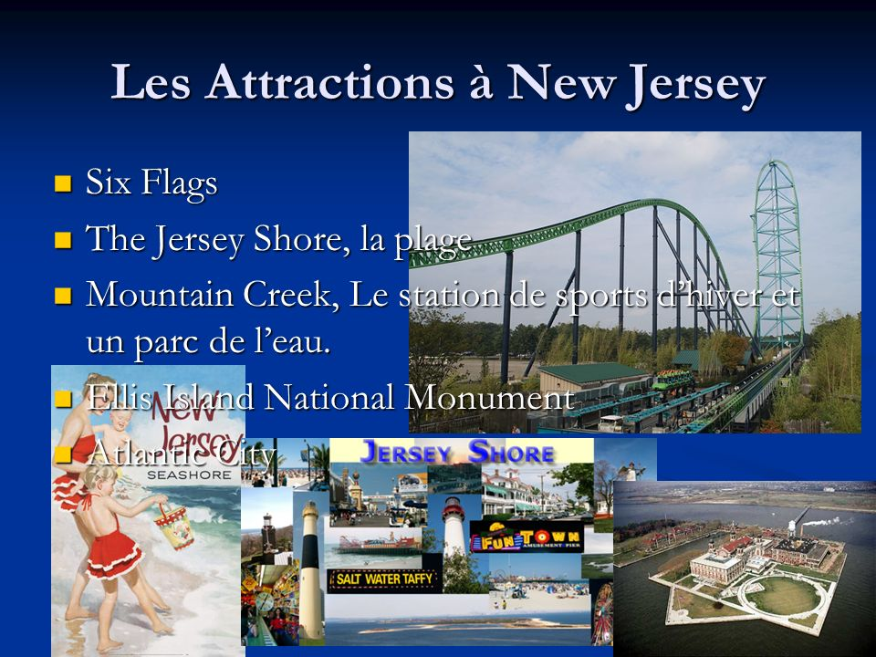 Les Attractions à New Jersey