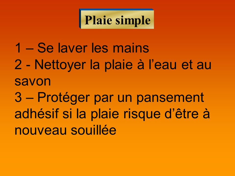 Plaie simple