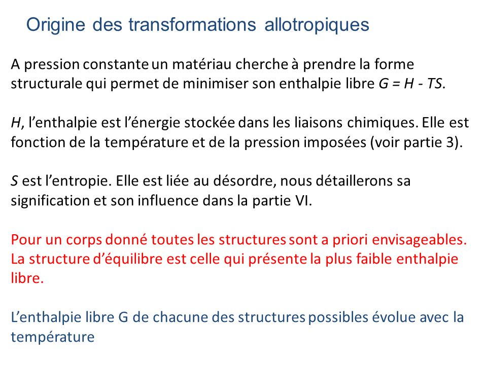 Origine des transformations allotropiques
