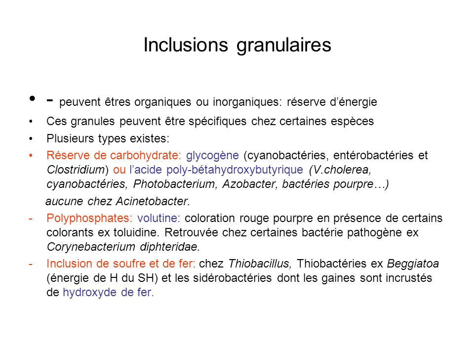Inclusions granulaires