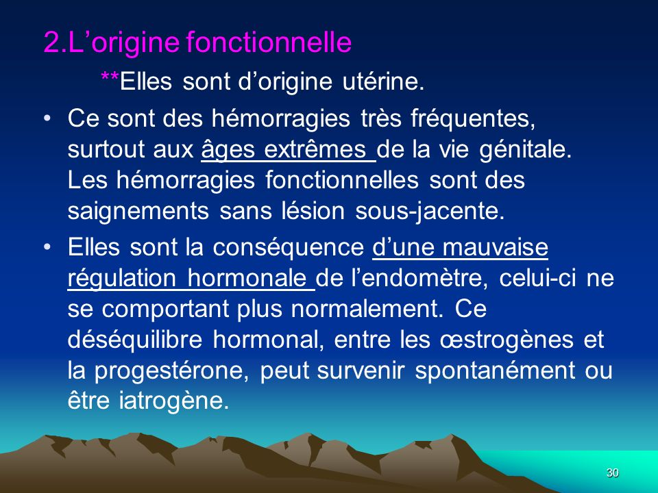 2.L'origine fonctionnelle