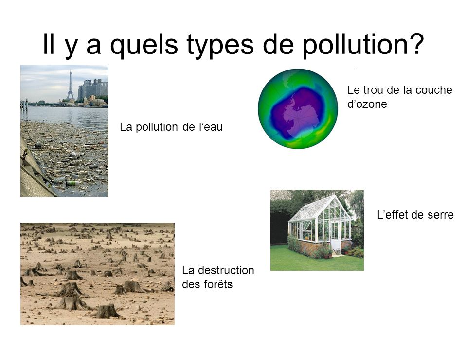 Il y a quels types de pollution