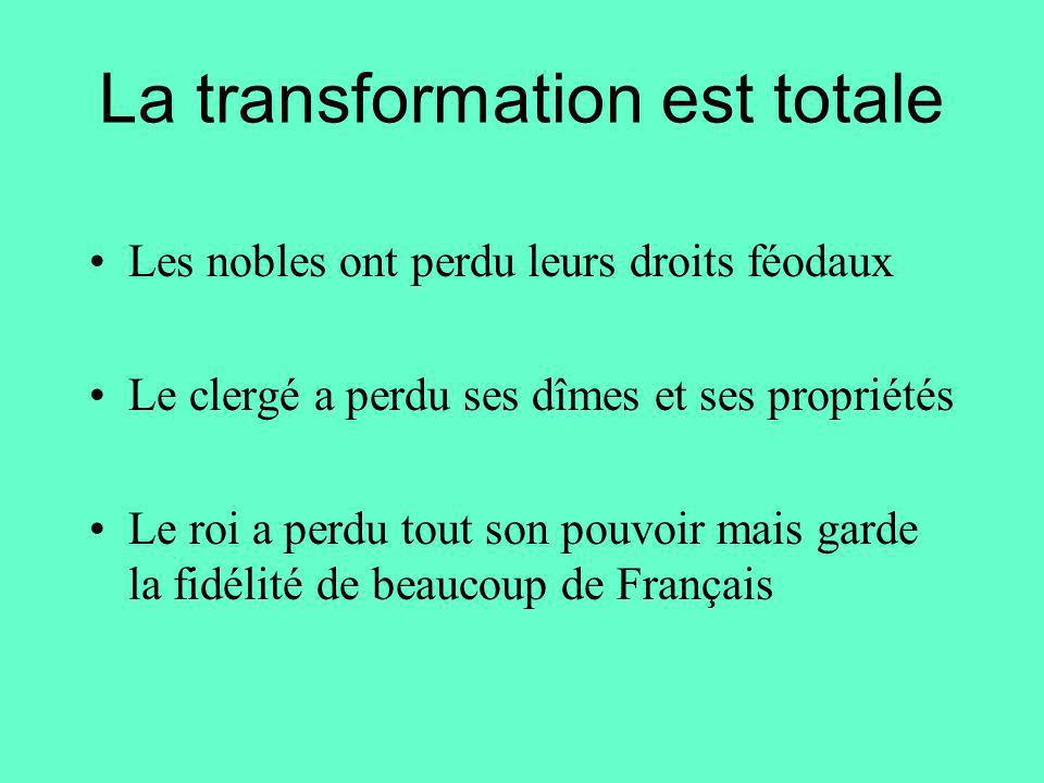 La transformation est totale