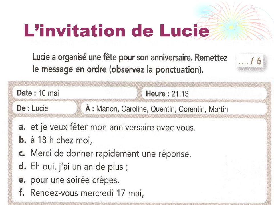 L'invitation de Lucie