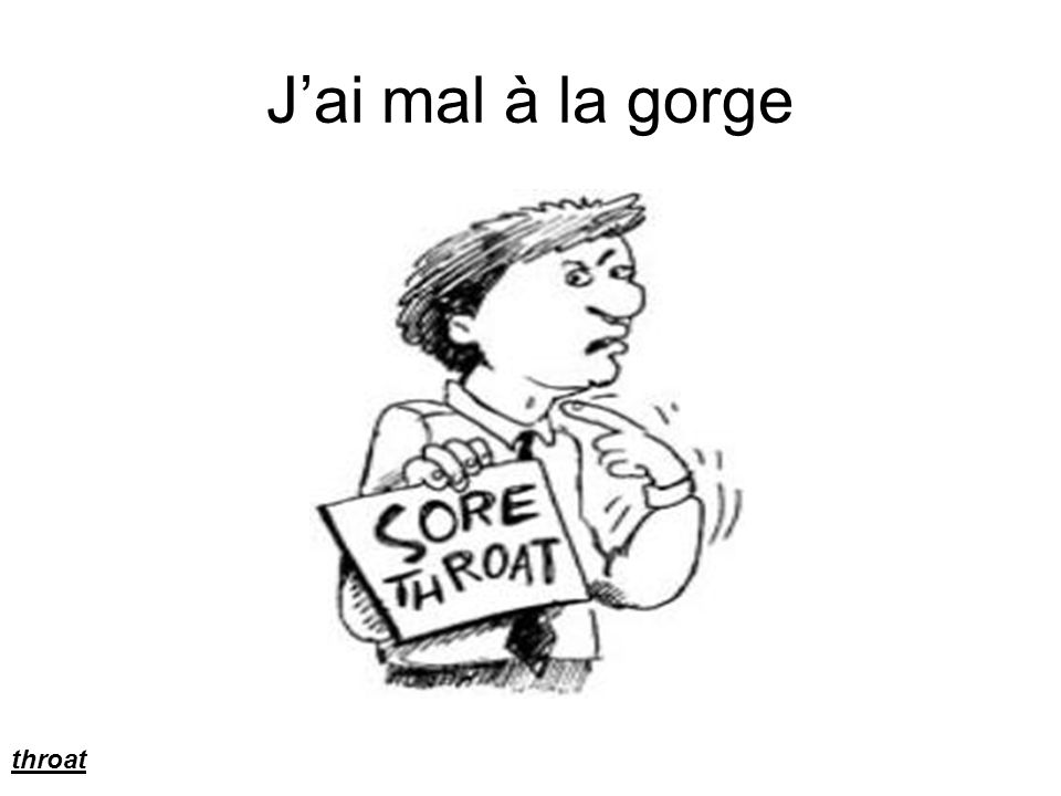 J'ai mal à la gorge throat