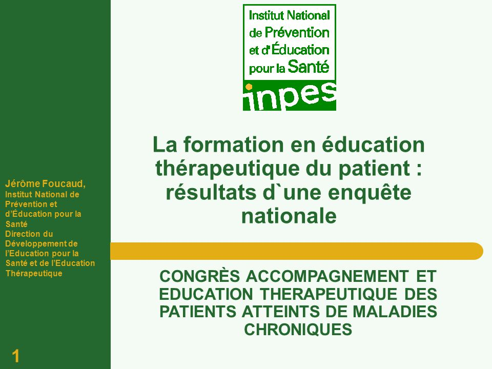 formation education therapeutique