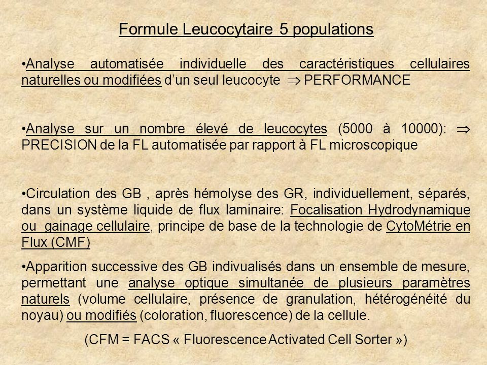 (CFM = FACS « Fluorescence Activated Cell Sorter »)
