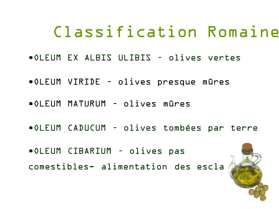Classification Romaine