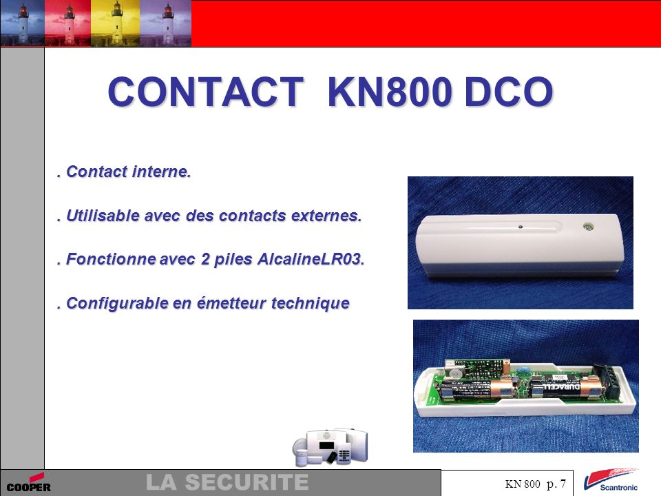 CONTACT KN800 DCO . Contact interne.