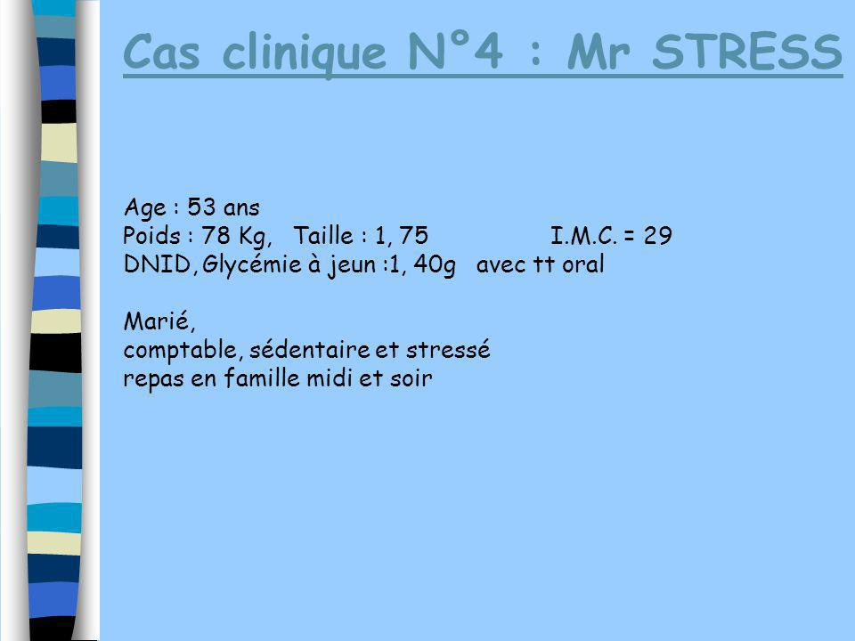 Cas clinique N°4 : Mr STRESS