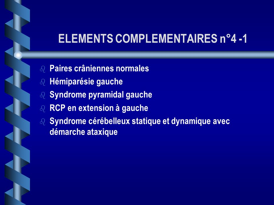 ELEMENTS COMPLEMENTAIRES n°4 -1