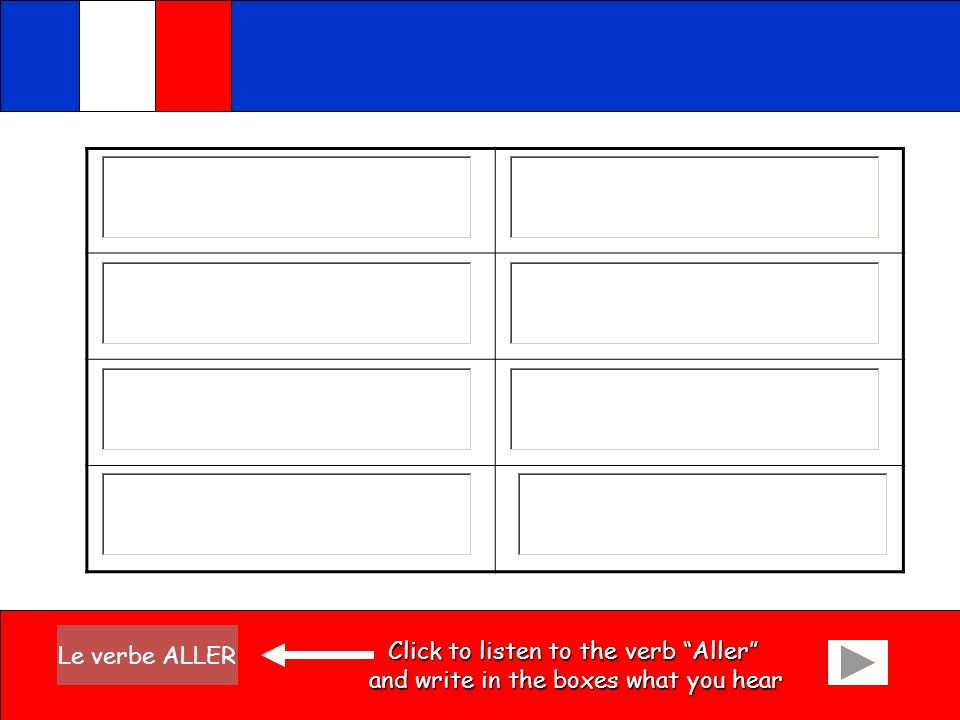 Click to listen to the verb Aller
