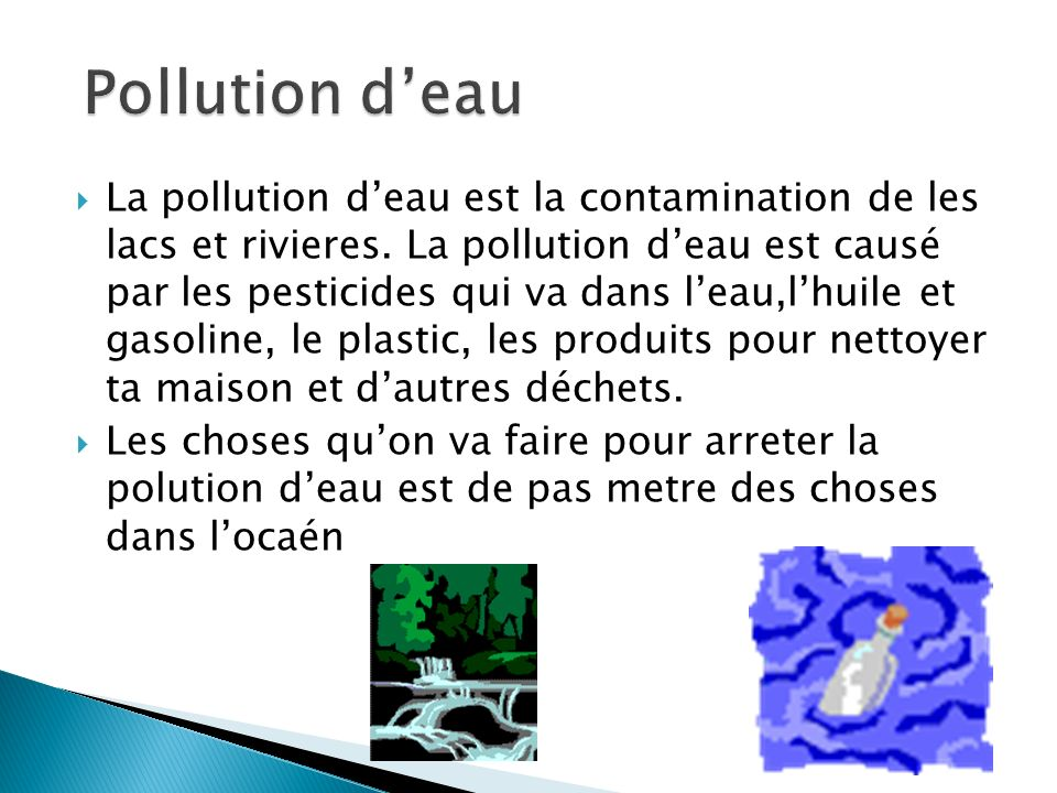 Pollution d'eau