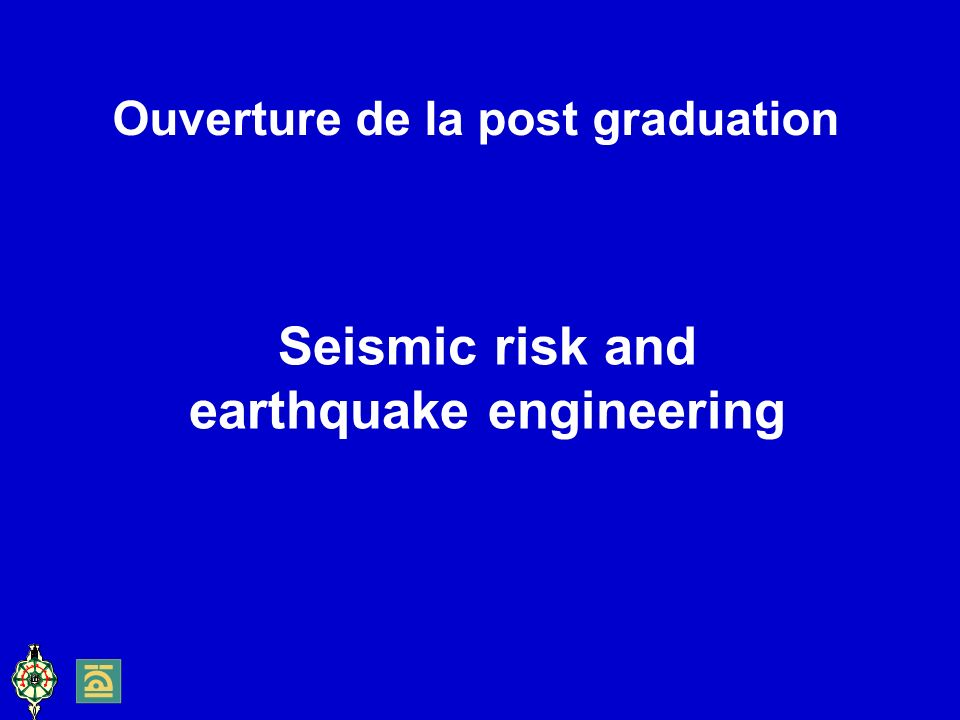 Seismic risk and earthquake engineering