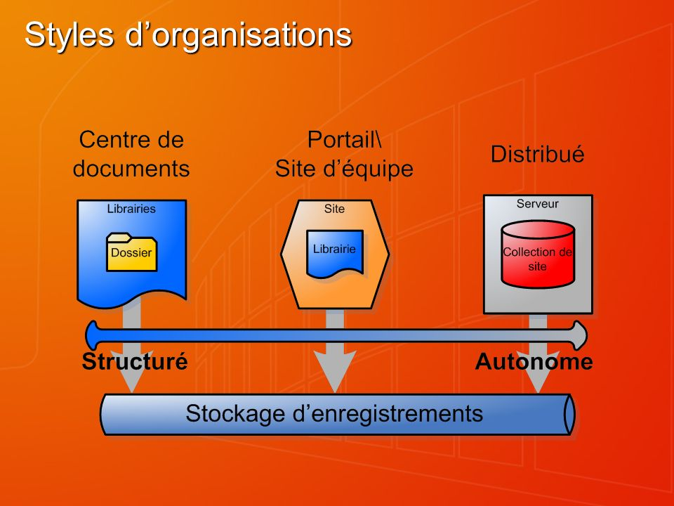 Styles d'organisations