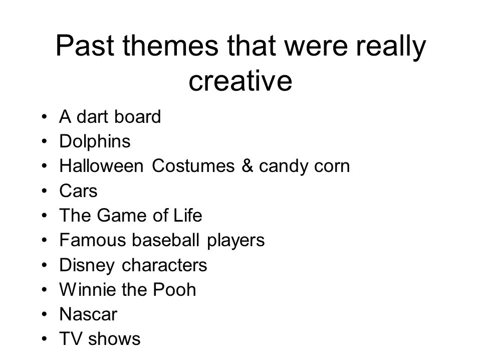 Past themes that were really creative