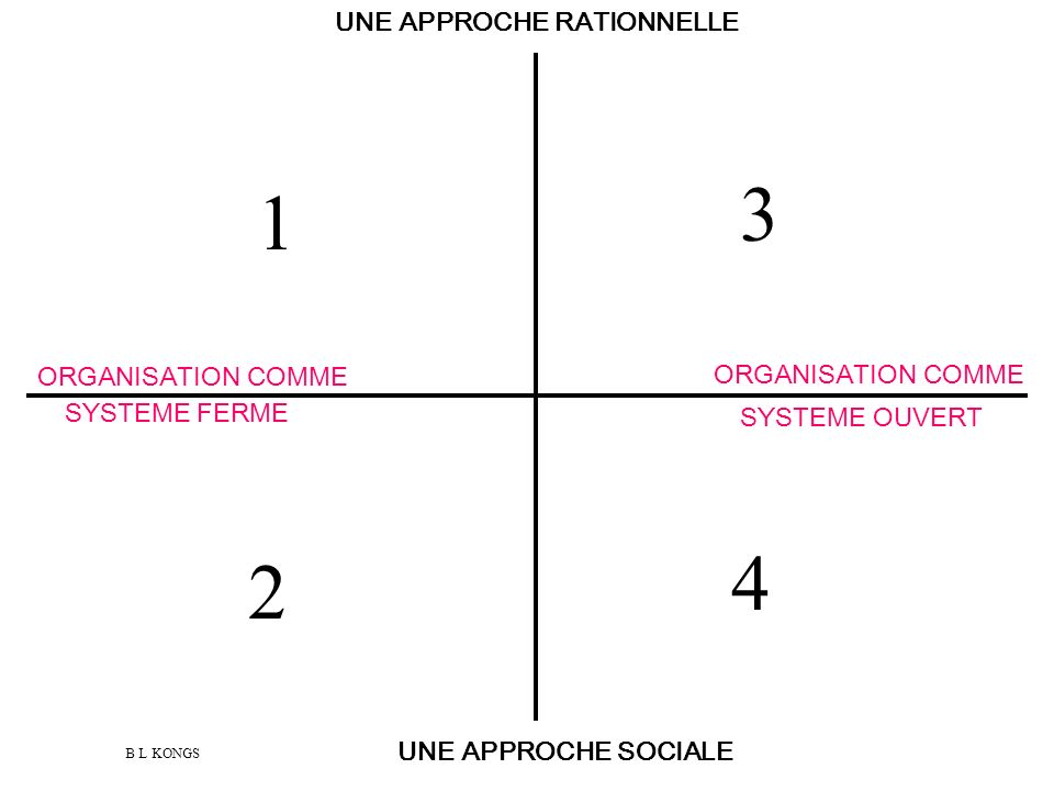 UNE APPROCHE RATIONNELLE ORGANISATION COMME ORGANISATION COMME