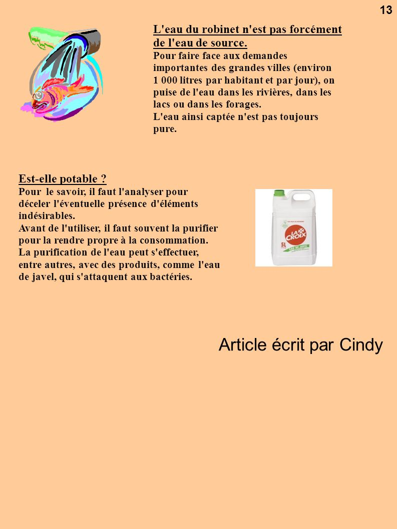 Article écrit par Cindy