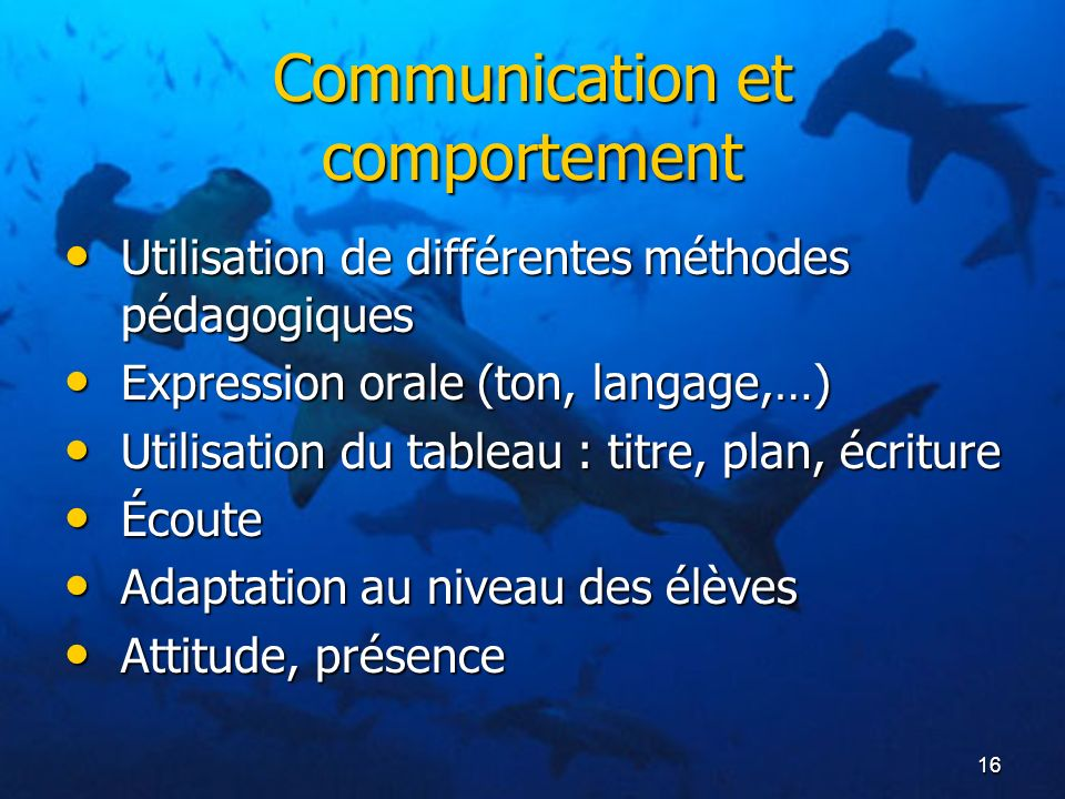 Communication et comportement