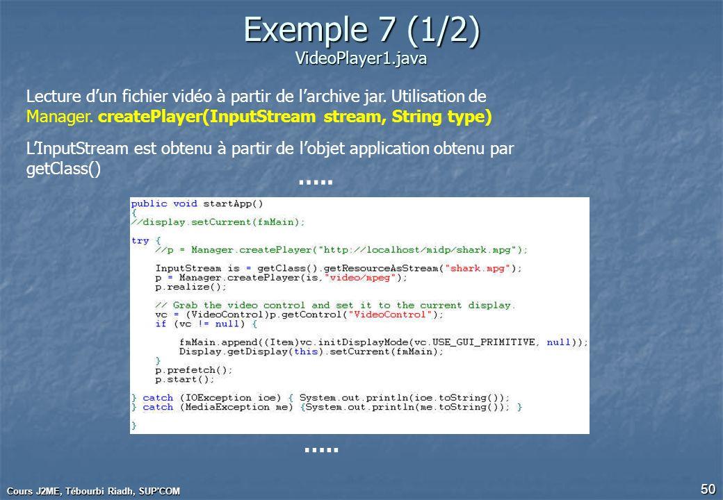 Développement d'applications mobiles sous JAVA Micro Edition
