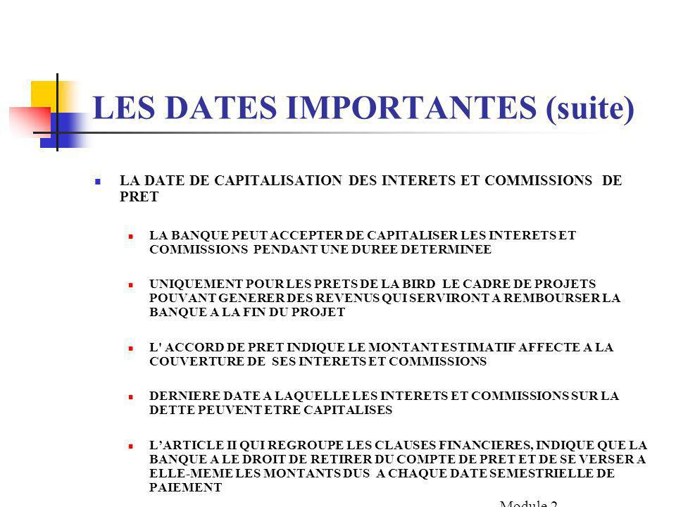 LES DATES IMPORTANTES (suite)