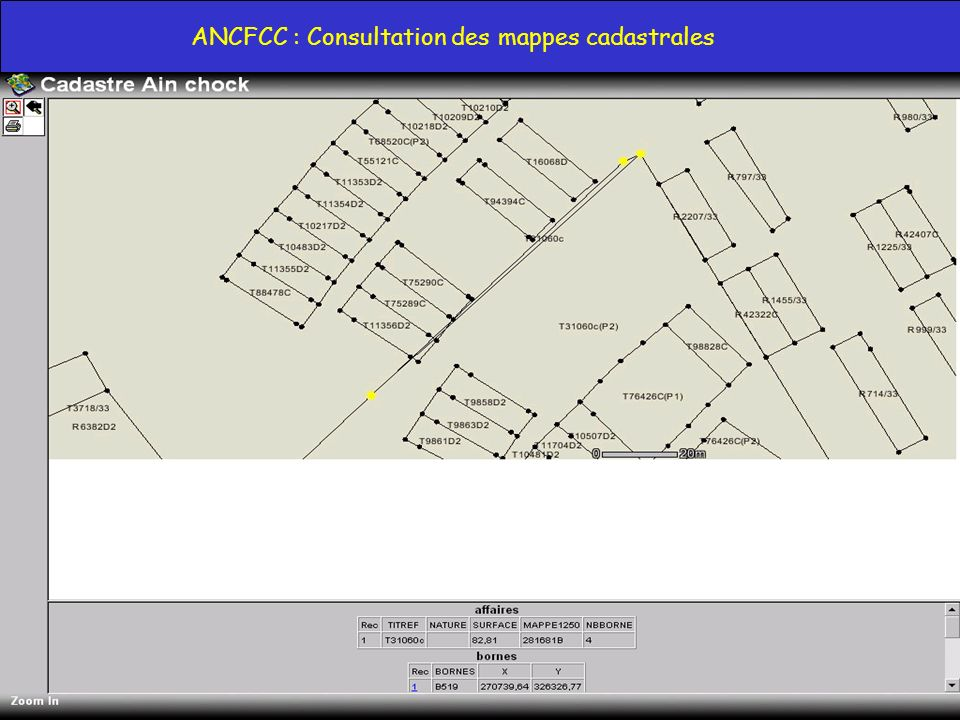 ANCFCC : Consultation des mappes cadastrales