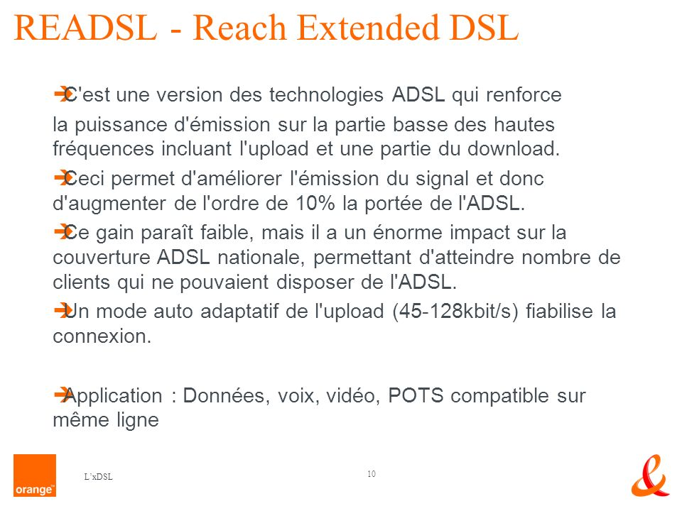 READSL - Reach Extended DSL