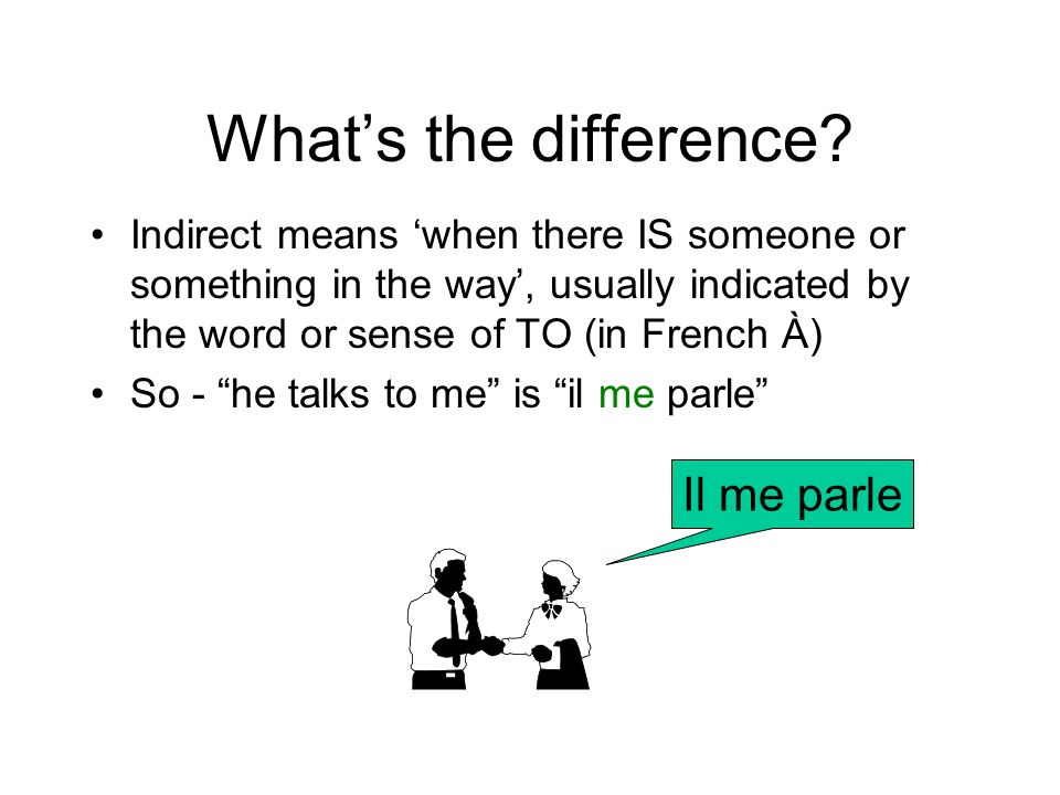 What's the difference Il me parle